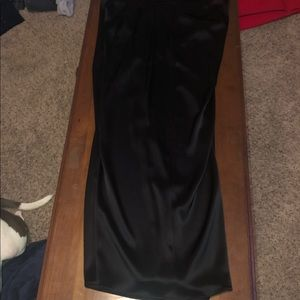 Black satin dress pants